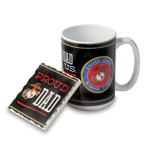 USMC Dad Mug/Coaster Set