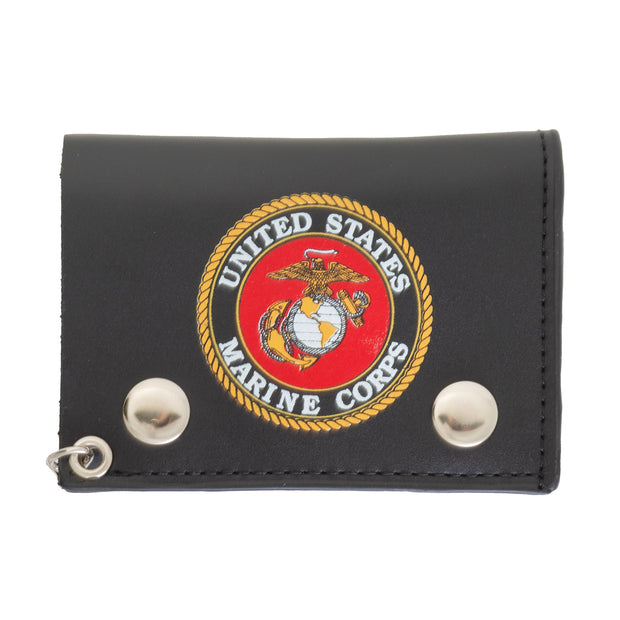 USMC Trifold Chain Wallet