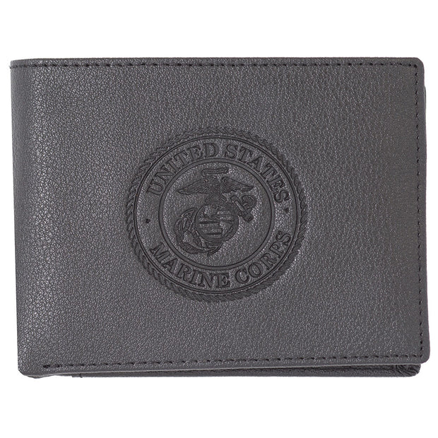 Embossed Seal Bi Fold Wallet