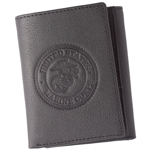 Embossed Seal Tri Fold Wallet