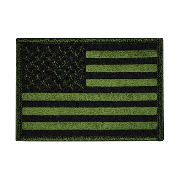 USA Flag OD Green Patch