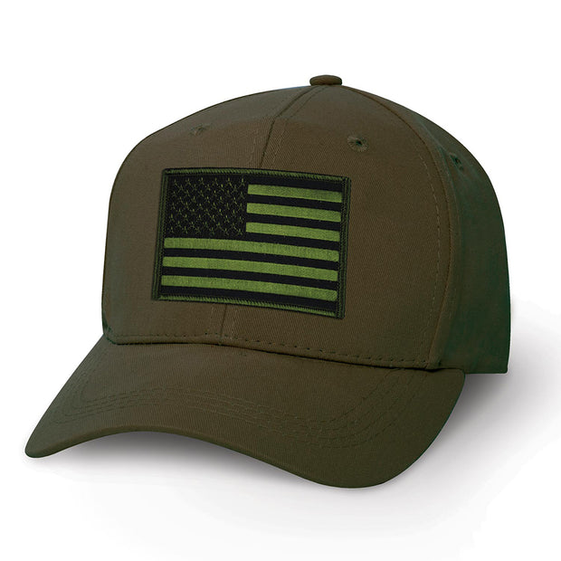 OD Green USA Flag Patch Cover