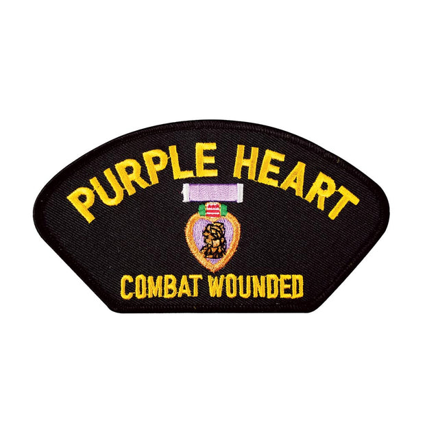Purple Heart Combat Wounded Cover Patch
