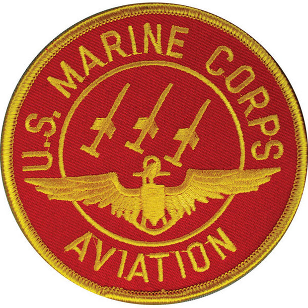 Red Marine Corps Aviation Patch
