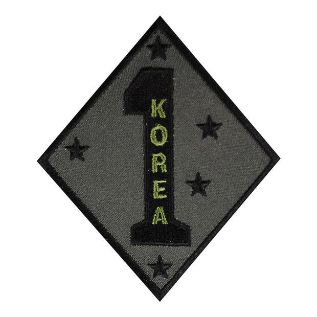 Korea - 1st Marine Division OD Green Patch