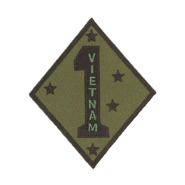 Vietnam - 1st Marine Division OD Green Patch