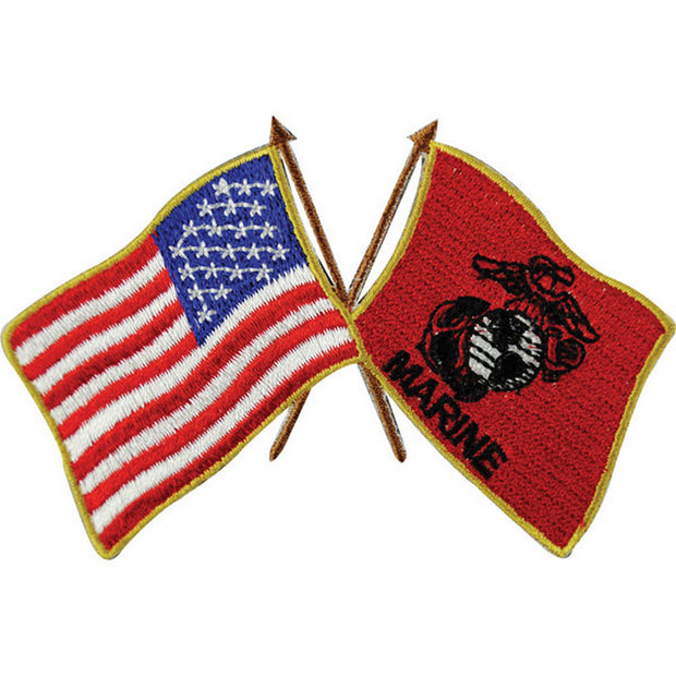 USA and USMC Flags Patch
