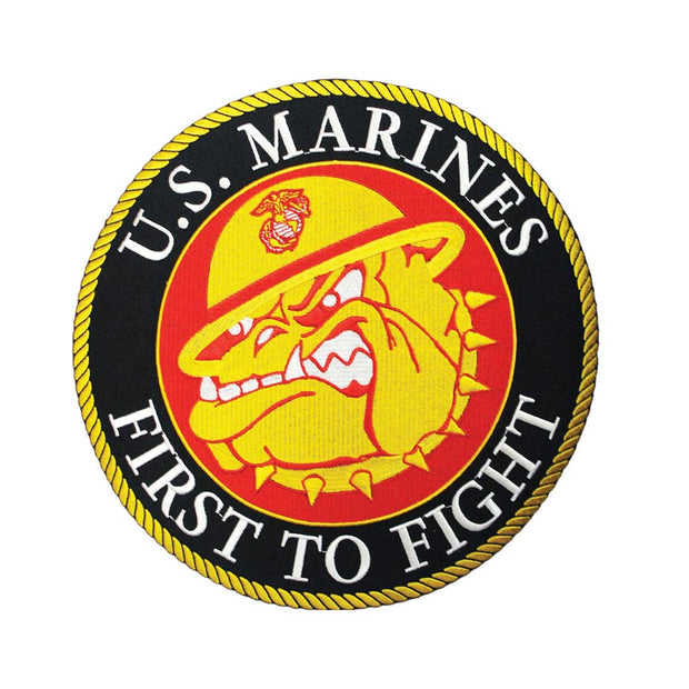 "US Marines First To Fight Bulldog 10"" Patch"