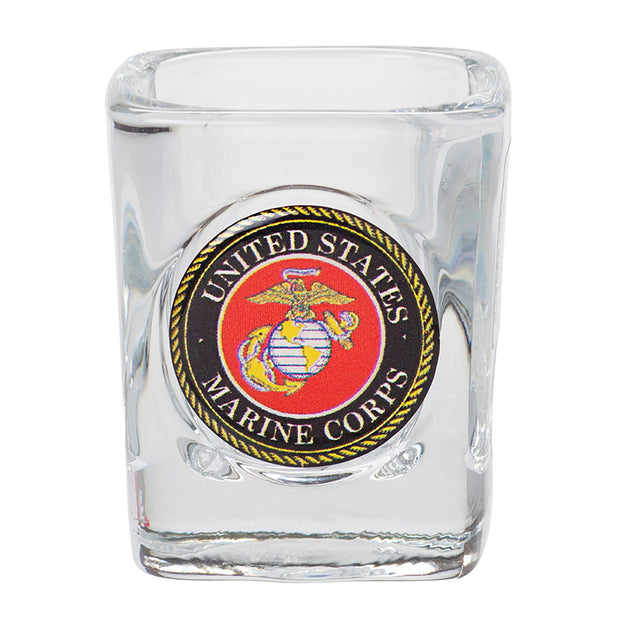 Marines Square Shot Glass
