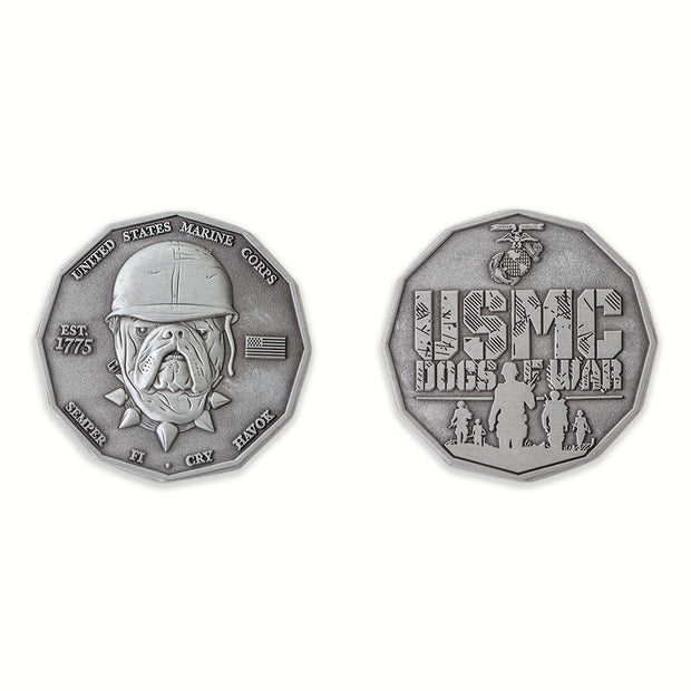 USMC Dogs Of War Coin