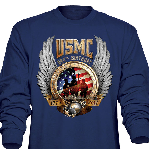 244th Birthday Long Sleeve Shirt