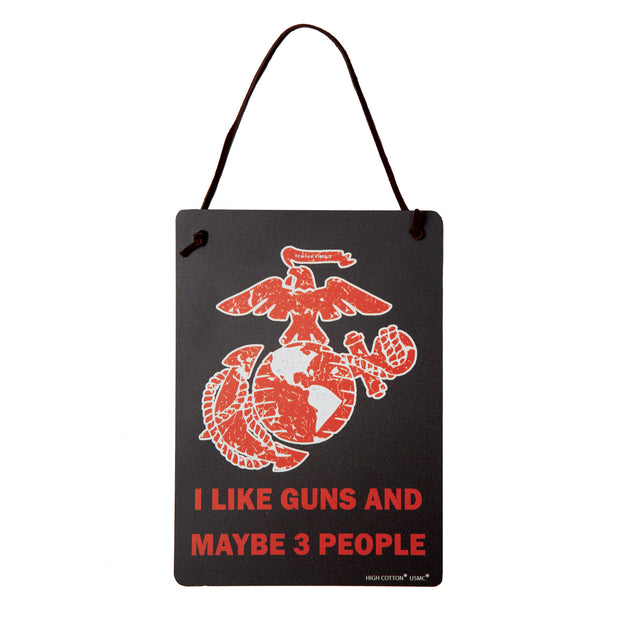 I Like Guns Wall Sign