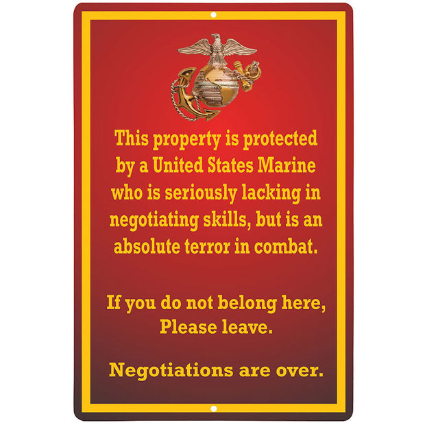 Marine Negotiation Sign