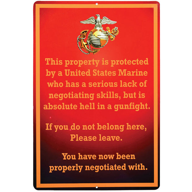 Marine Negotiation Aluminum Sign