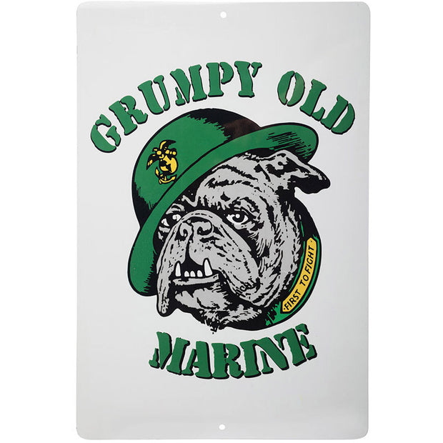 Grumpy Old Marine Sign