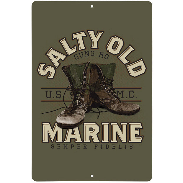 Salty Old Marine Sign