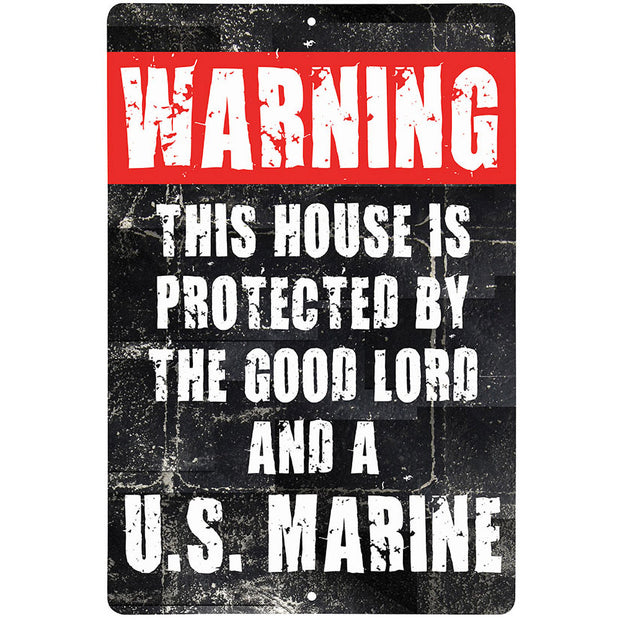 Metal Warning Sign 12 x 18