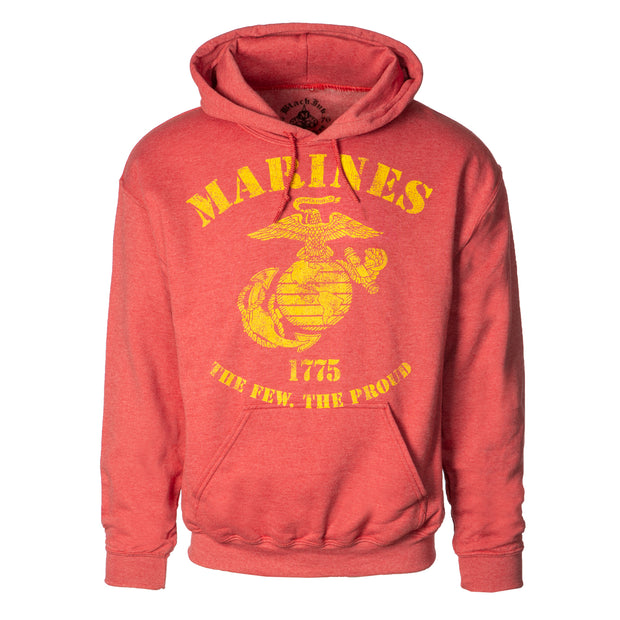 Marines Eagle, Globe, and Anchor Vintage Red Hoodie