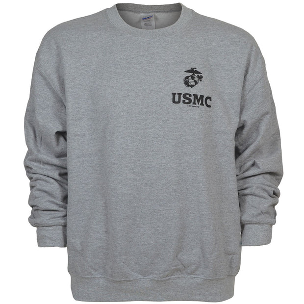 USMC Light Steel Sweatshirt