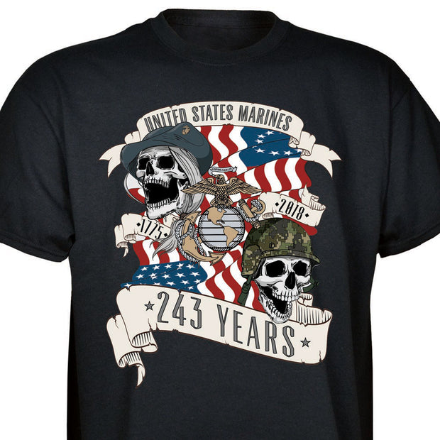 Exclusive USMC 243rd Birthday T-shirt