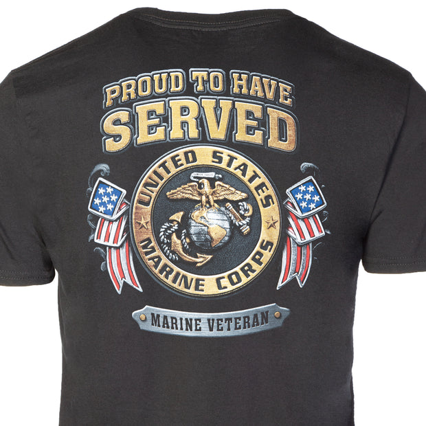 USMC Veteran Black T-shirt