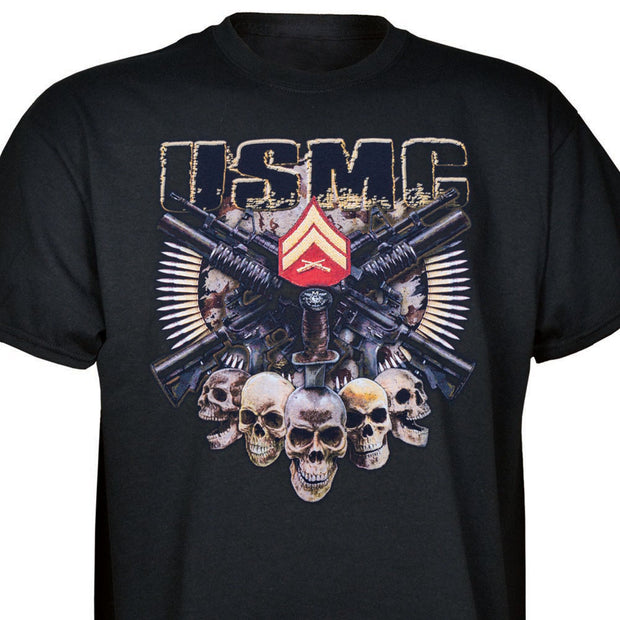 USMC CPL Skull Rank T-shirt