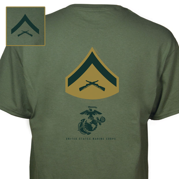 Choose Your United States Marine Corps Rank T-Shirt