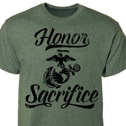 Large Eagle, Globe & Anchor Honor Sacrifice T-Shirt
