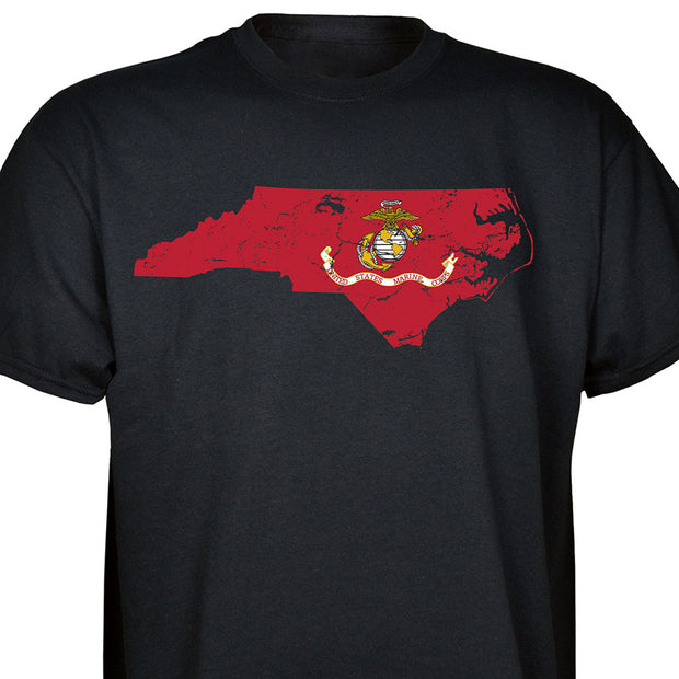 USMC Flag Choose Your State T-shirt