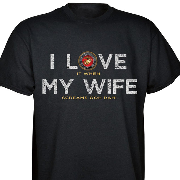 I Love My Wife OOHRAH T-Shirt