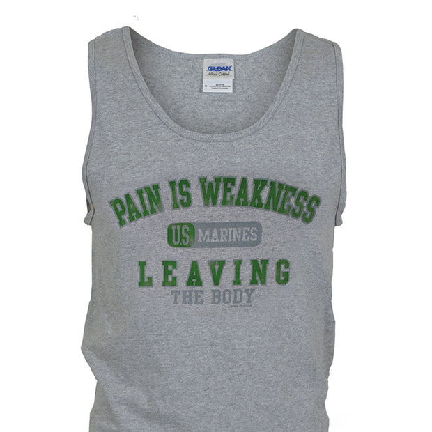 Pain is Weakness Gray Tank Top
