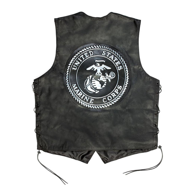 Embossed Lace Up Side Vest