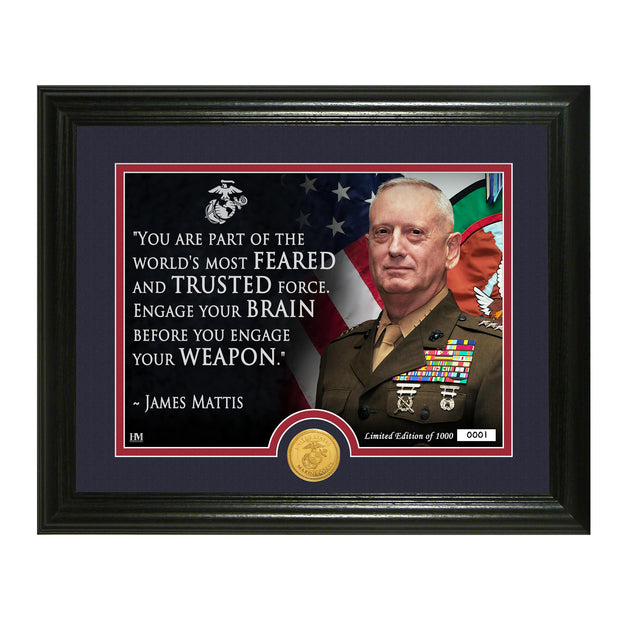 Mad Dog Mattis Framed Quote