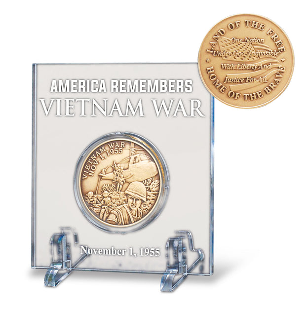 Vietnam War Acrylic Cased Coin