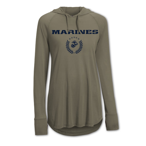 Women's Marines Hooded Performance Shirt