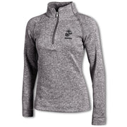 Women's UA USMC 1/4 Zip Heathered Pullover