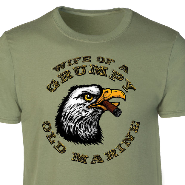 Wife of a Grumpy Old Marine Eagle T-shirt