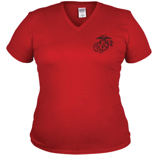 Woman Marine V-Neck T-Shirt