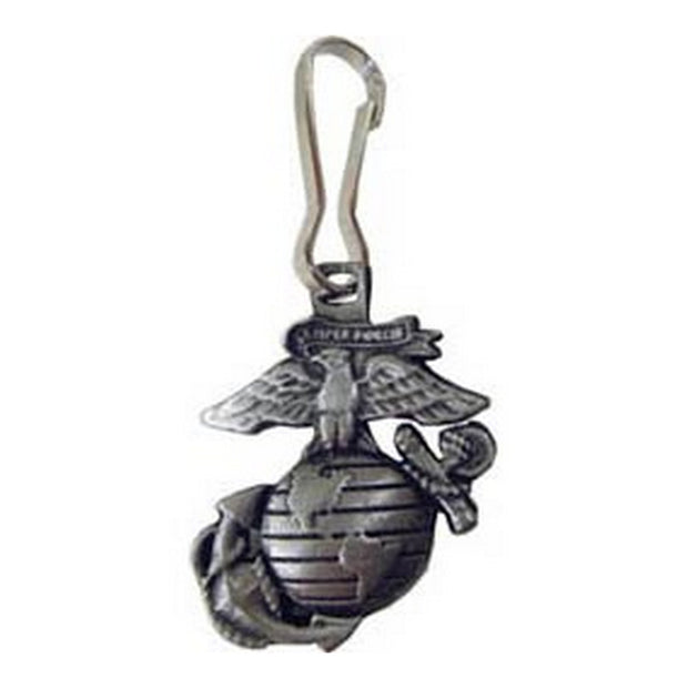 Eagle Globe and Anchor Zipper Pull