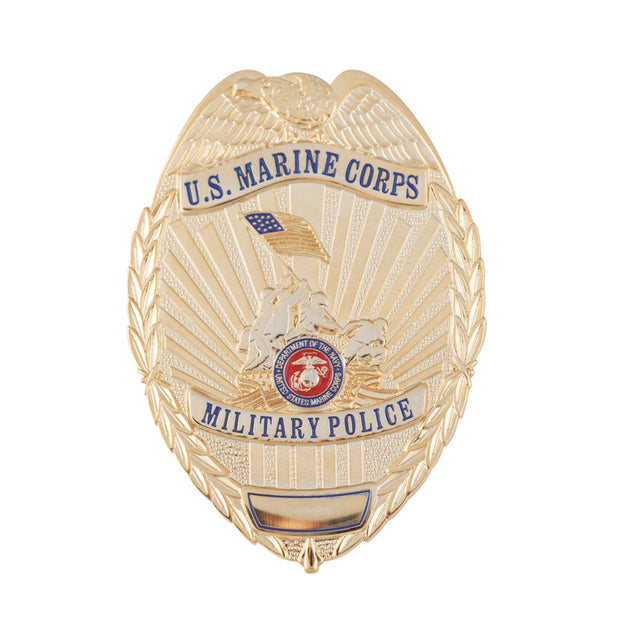 USMC Military Police Badge w/ Iwo Jima