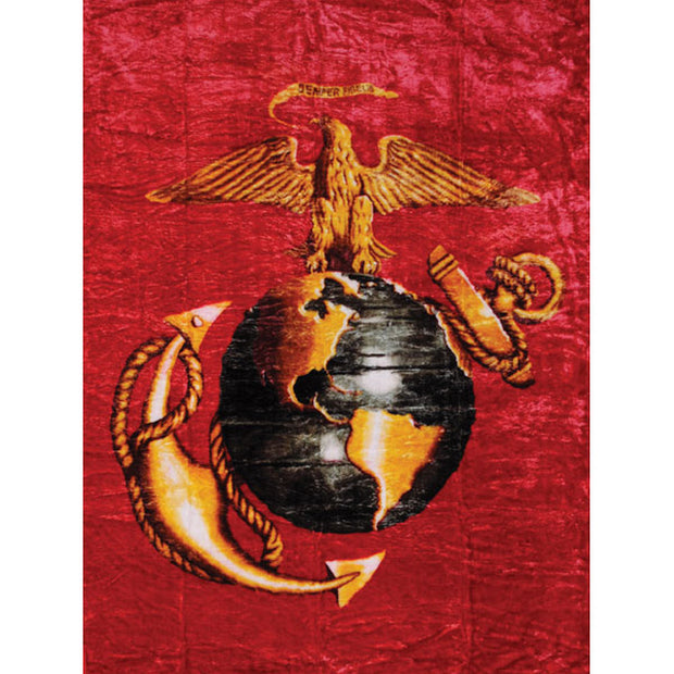 Red Eagle Globe and Anchor  Blanket