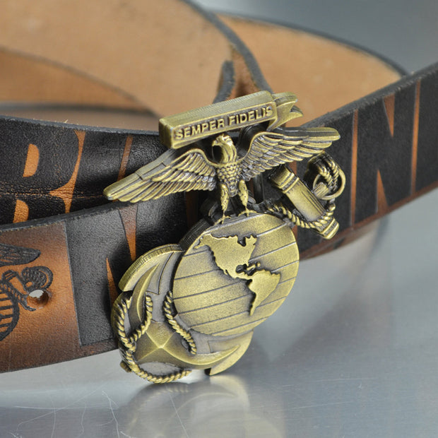 Eagle Globe and Anchor Belt Buckle