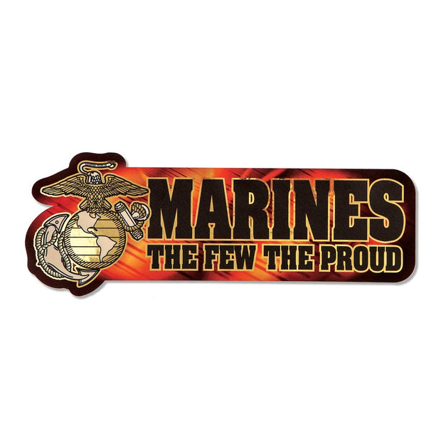 Marines The Few The Proud Chrome Bumper Sticker