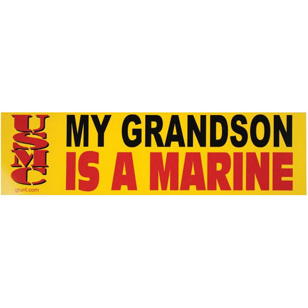 My GRANDSON Is A Marine Bumper Sticker