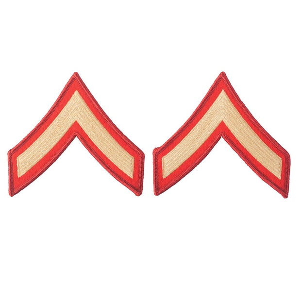 Gold on Red Embroidered Chevrons