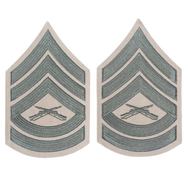 Green on Khaki Chevrons