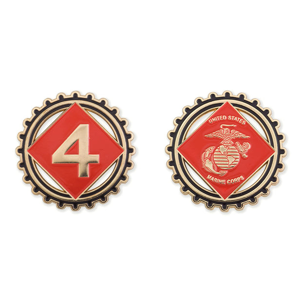 4th Marine Division Coin