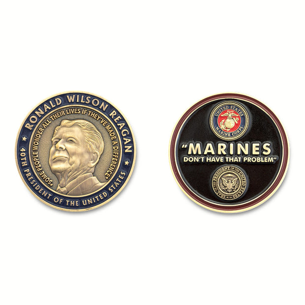 Ronald Reagan Marine Quote Coin