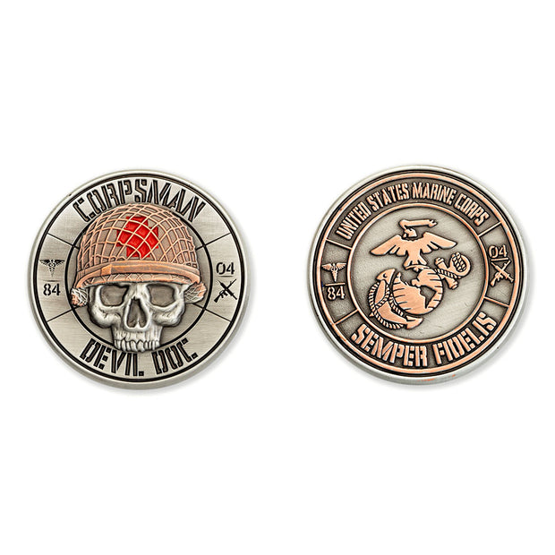 Corpsman Devil Doc Coin