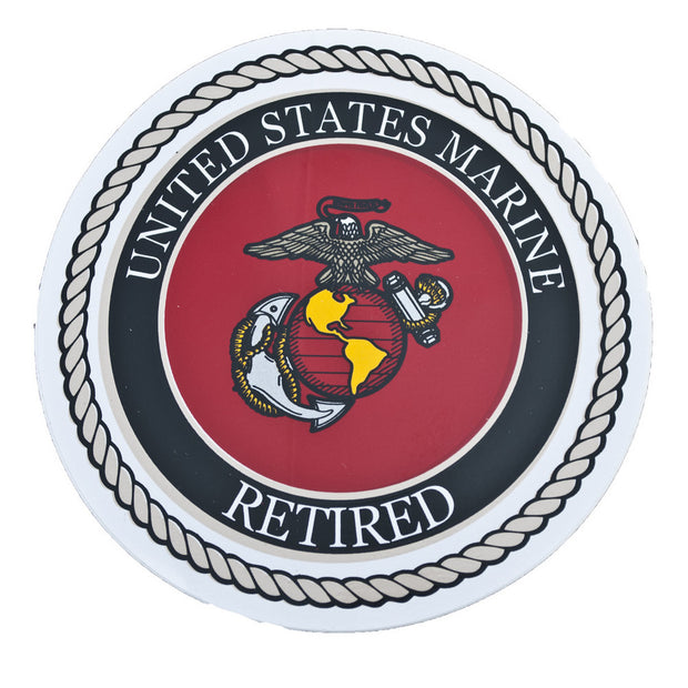 "Marine Retired 4"" Decal"